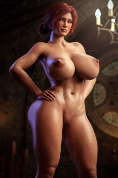 3D Redhead With Big Boobs