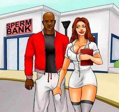 Interracial Cartoon Comics – Sperm Bank
